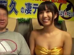 スタイル抜群美女・湊莉久ちゃんの神テクに耐えたら生中出しセックス!