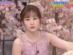 日テレ岩田絵里奈アナ、ノースリでシースルーな衣装がエッチ。
