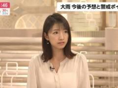 三田友梨佳アナの下着透け透けおっぱいキャプ!フジテレビ女子アナ