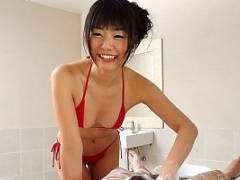 【つぼみ】 黒髪美女が極上のサービスをしてくれる洗体エステ 【tube8】