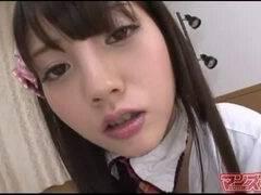 【フェラチオ】めっちゃ可愛いアイドル級美巨乳娘がディルド跨り変態オナニー中継