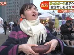 テレ東・田中瞳アナ、太いのをパックリ。