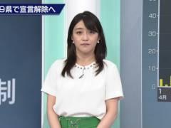 NHK赤木野々花アナ、スカートのお尻がエロい。