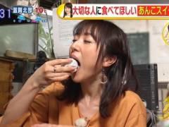 川田裕美のエロい擬似バキュームフェラチオ食べ顔キャプ!フリーアナウンサー