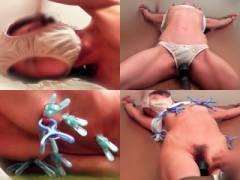 【個人撮影】素人人妻の浮気のお仕置き!拘束して乳首虐め電マ!顔にパンツを被せて強制アクメw