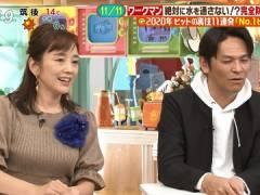 西田ひかるさん、ニットの熟おっぱいがエロい。