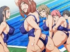 学園で人気ナンバーワンのチンコに水泳部女子たち順番待ちw焦らなくてもみんなに種付けしてあげるよ