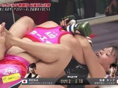 【エロファイター】RIZIN2018 RENAvs朝倉カンナがほとんどキャットファイトで糞ヌケるwwwwwww(画像あり)