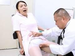五十路の看護師長が猥褻医師にパンスト破られハメられてしまう! 一条綺美香