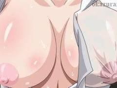 【コスプレ】ワイシャツに収まりきらない爆乳女教師と学校でコスプレエッチ!