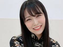 NMB48白間美瑠、超ミニ丈セクシーチャイナドレス姿で握手会登場。