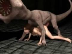 【3Dエロアニメ】 人外バケモノや怪物博士に襲われて異種姦レイプされる美女たち