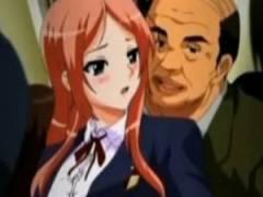 【エロアニメ】 ヤリマンになった主人公が痴漢のオッサンとラブホ行ったりオッサンたちの前で鼻フックどじょうすくい踊りしてオシッコお漏らしイキw