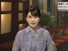 井上あさひアナ、新妻のインナーがスケスケ。
