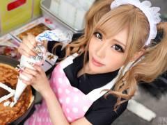 20歳クレープ屋店員の金髪ギャルに副業のお誘い。渋谷で飲んでからホテルへ…